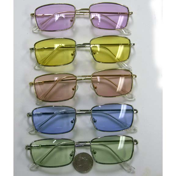 LENNON SHAPE RECTANLE SHAPE COLOR LENS SUNGLASSES